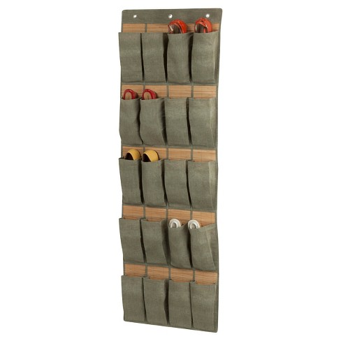 Honey-Can-Do Bamboo 20-Pocket Over-the-Door Shoe Organizer - Gray - image 1 of 1