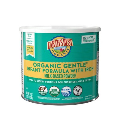 Earth's Best Organic Gentle Infant Formula with Iron Powder - 21oz
