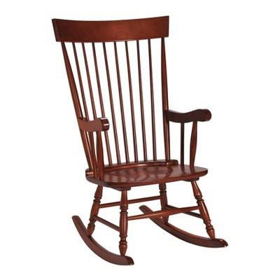 Gift Mark Modern Wooden Rocking Chair - Cherry