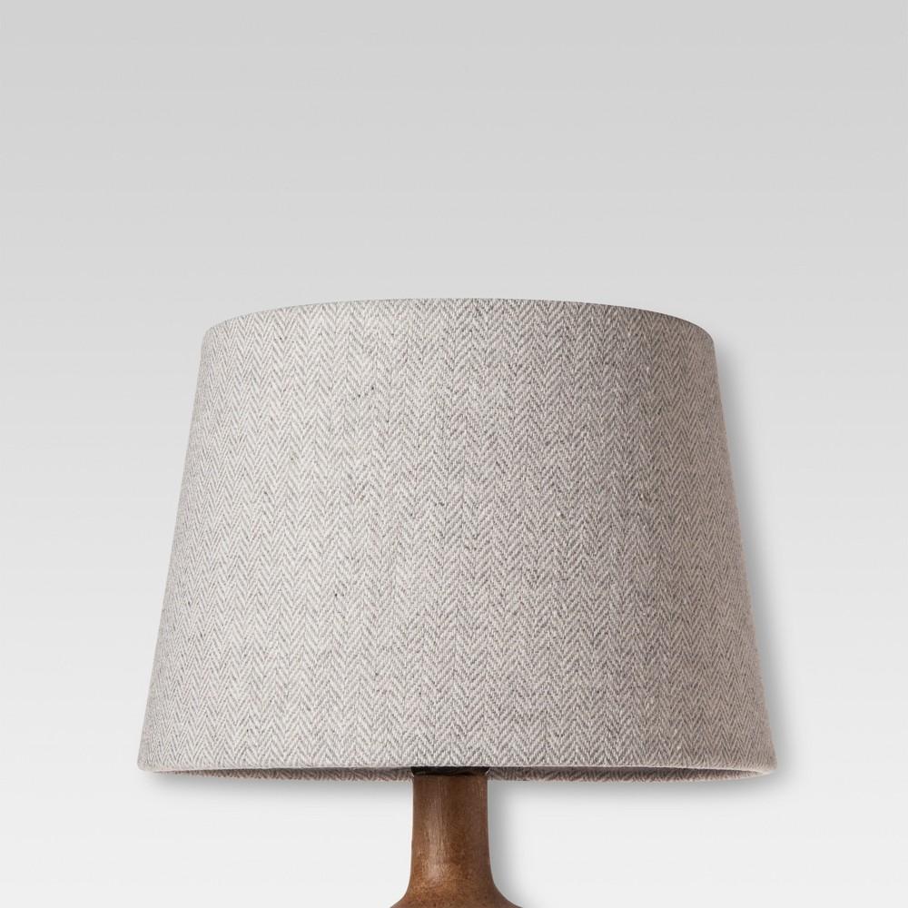 Image of Small Gray Herringbone Lamp Shade - Threshold
