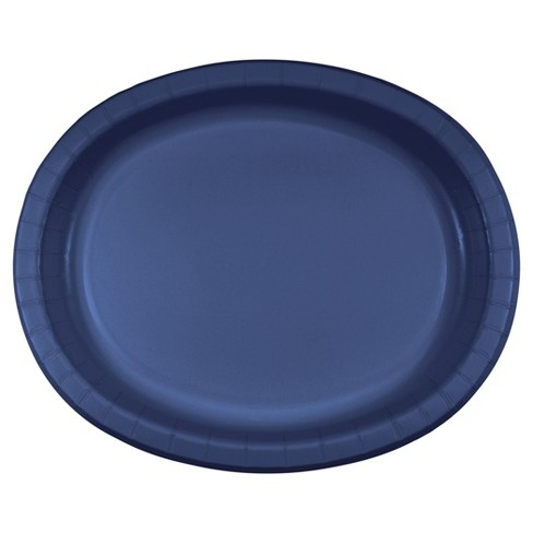 "Navy Blue 10"" x 12"" Oval Platters - 8ct - image 1 of 1"