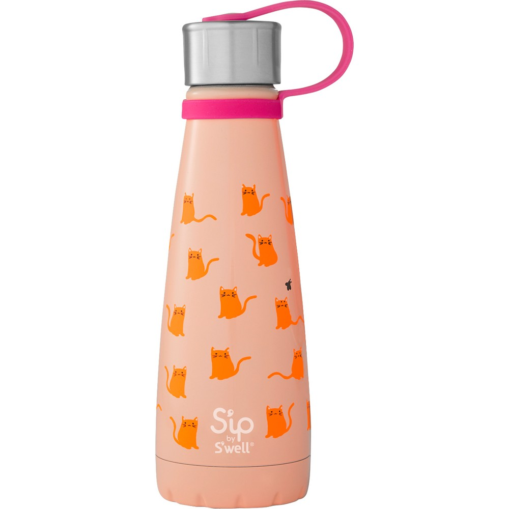 Image of 10oz Stainless Steel Cool Cats Water Bottle Pink - S'ip by S'well