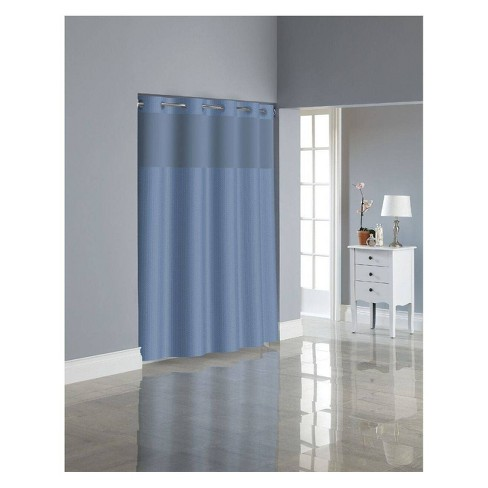 Herringbone Shower Curtain with Liner - Hookless - image 1 of 4