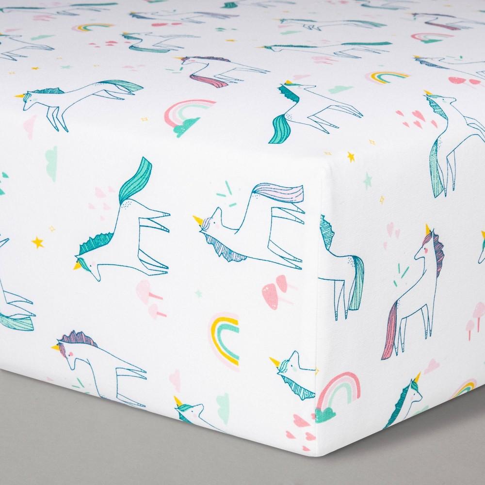 Fitted Crib Sheet Unicorns Cloud Island 8482