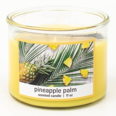 11oz Classico Glass Jar 3-Wick Pineapple Palm Candle