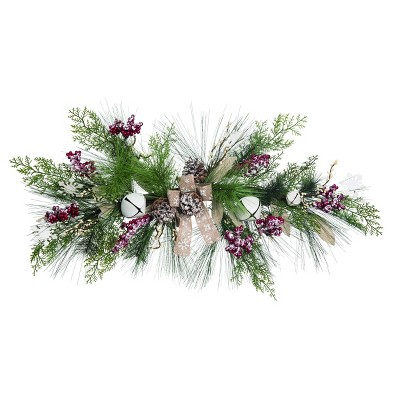 Transpac Artificial 32 in. Multicolor Christmas Greenery with Berry Swag