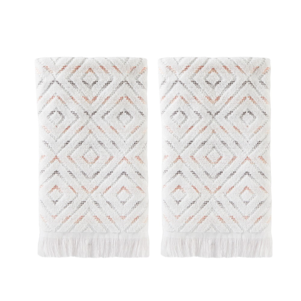 Image of 2pc Di Di Hand Towel Bath Towels Sets Coral - Saturday Knight Ltd., Pink