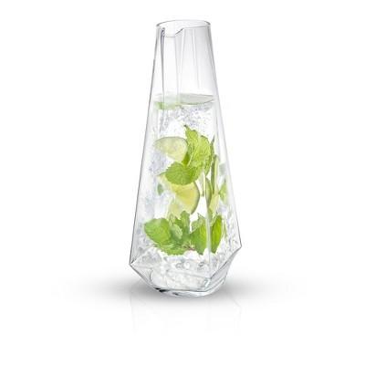 JoyJolt Infiniti Water Pitcher - 43 oz Deluxe Crystal Glass Lemonade Pitcher