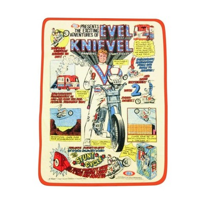 Crowded Coop, LLC Evel Knievel Plush Lightweight Fleece Throw Blanket | 45 x 60 Inches