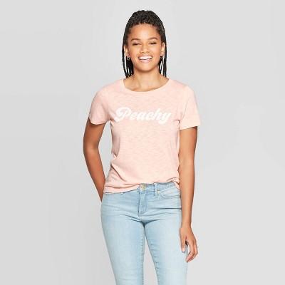 Women's Peachy Short Sleeve Graphic T Shirt   Grayson Threads (Juniors')   Pink by Shirt