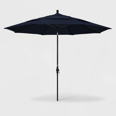 11' Aluminum Collar Tilt DV Patio Umbrella - California Umbrella