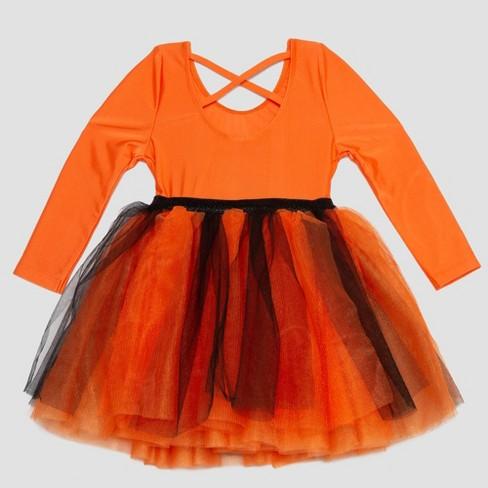 25a5076453f L.O.L. Vintage Toddler Girls  Tutu Dress - Orange   Target