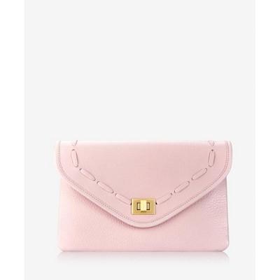 GiGi New York Pink Georgia Envelope Clutch Bag