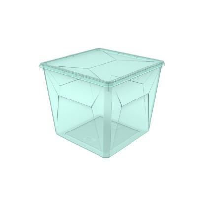 16.9qt Large Modular Storage Bin Turquoise Tint - Room Essentials™