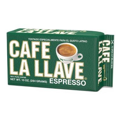 Cafe La Llave Espresso 100% Pure Dark Roast Ground Coffee - 10oz