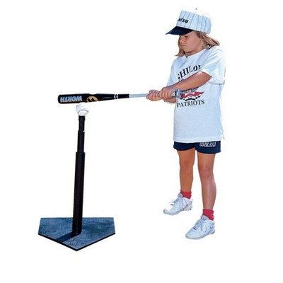 Sportime Adjustable Rubber Batting Tee, 21 to 37-1/2 Inches