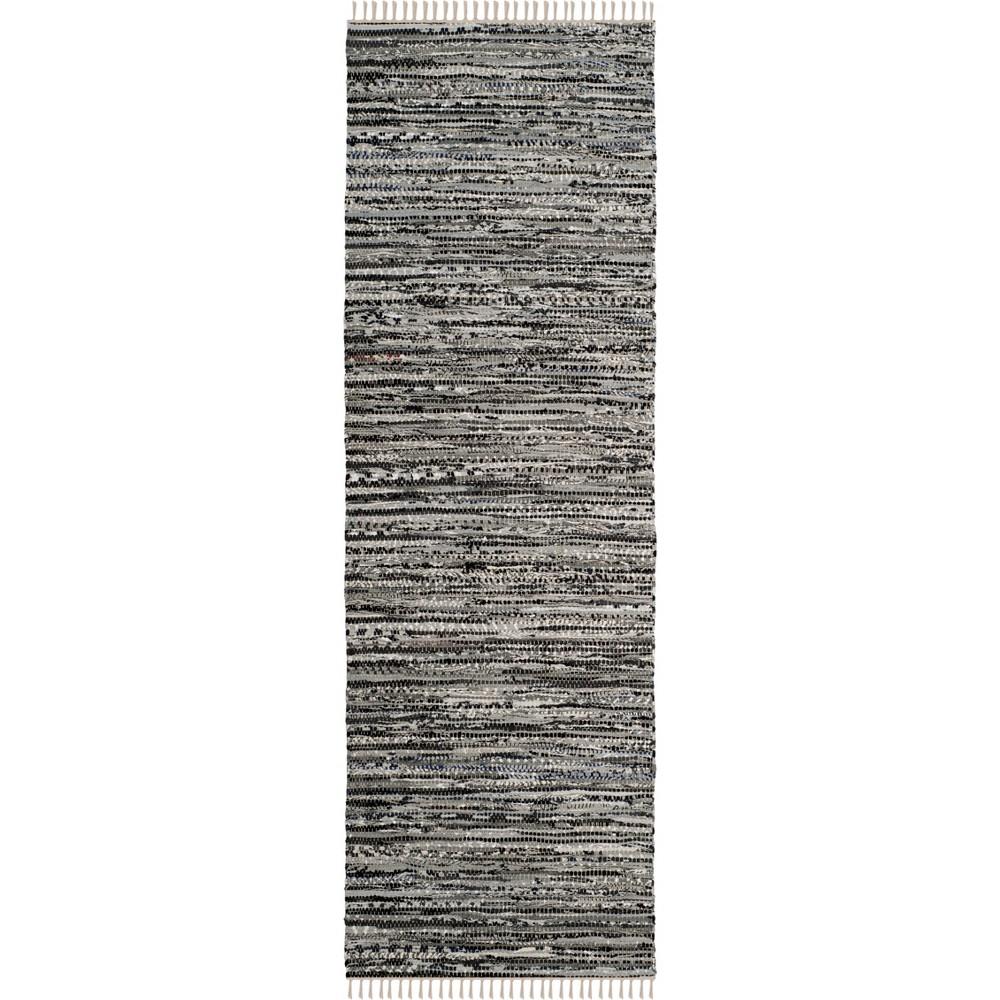 23X11 Spacedye Design Woven Runner Gray - Safavieh Top