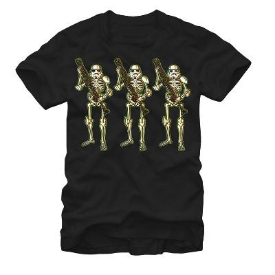 Men's Star Wars Halloween Stormtrooper Skeletons T-Shirt