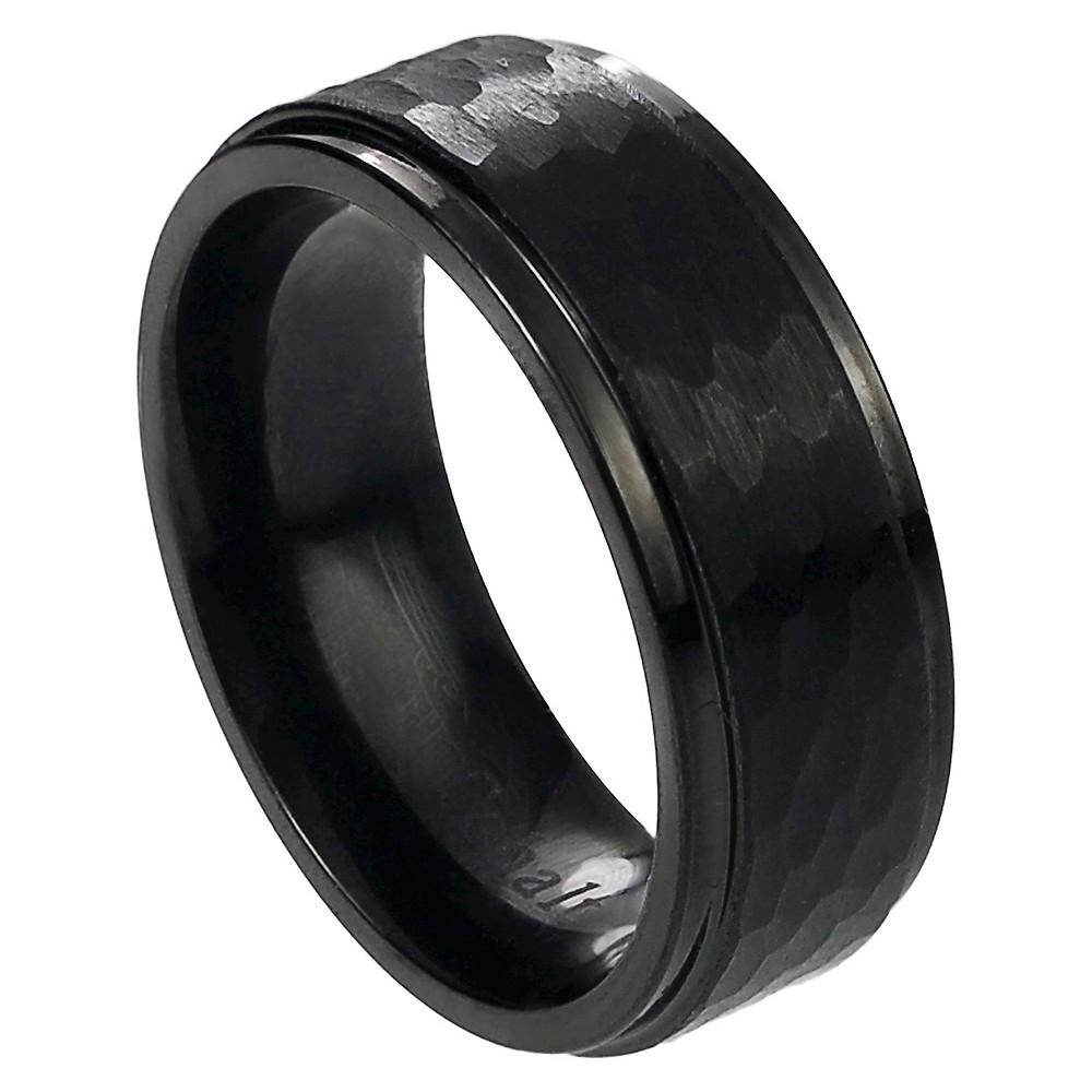 Daxx Men's Cobalt Hammered Band - Black 8