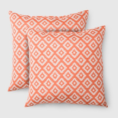 Ordinaire 2pk Square Geo Diamond Outdoor Pillows   Threshold™