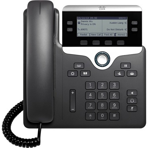 Cisco 7841 IP Phone - Wall Mountable - 4 x Total Line - VoIP - Caller ID - SpeakerphoneEnhanced User Connect License, Unified Communications Manager - image 1 of 4