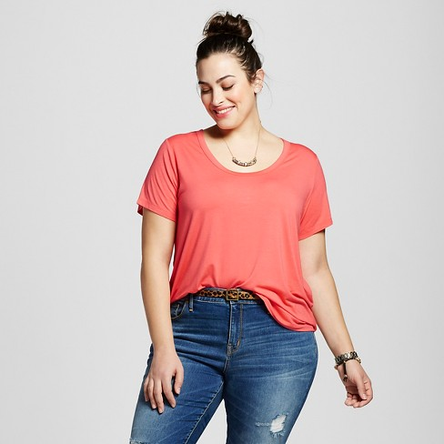 Women's Plus Size Perfect T-Shirt - Ava & Viv™ - image 1 of 2