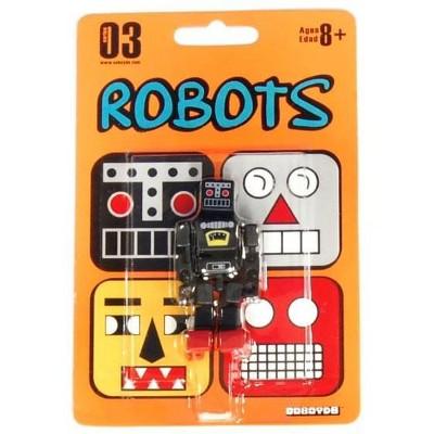 "Saizon Cuboyds 2.5"" Mini Figure: Robot (Black)"