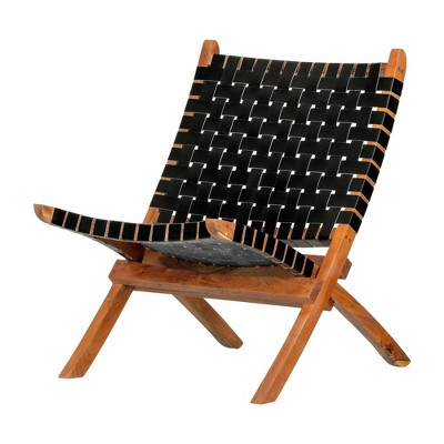 Balka Woven Leather Lounge Chair - South Shore