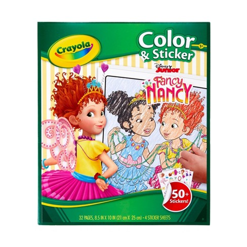 Crayola Fancy Nancy Coloring Book and Stickers - image 1 of 4