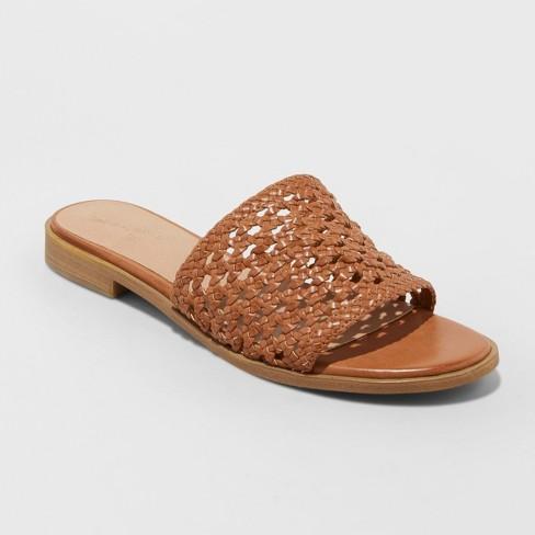 Women's Ellen Woven Slide Sandals - Universal Thread™ - image 1 of 3