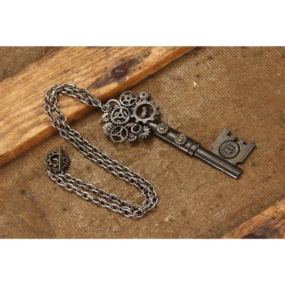 Elope Steampunk Large Antique Key Gear Costume Necklace Adult