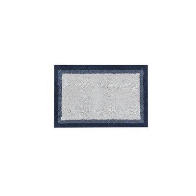 20 x30  Salem Cotton Tufted Bath Rug Navy