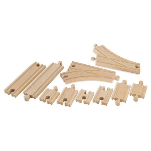 Eichhorn Wooden Car Shuttle Train Set - 10pc - image 1 of 6