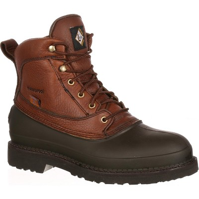 Lehigh Safety Shoes Swampers Men's Brown 6 inch Steel Toe Waterproof Work Boot