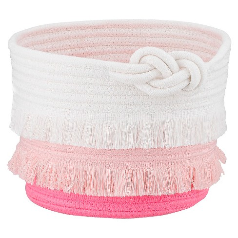 Small Coil Rope Toy Storage Basket Pink - Pillowfort™ - image 1 of 3