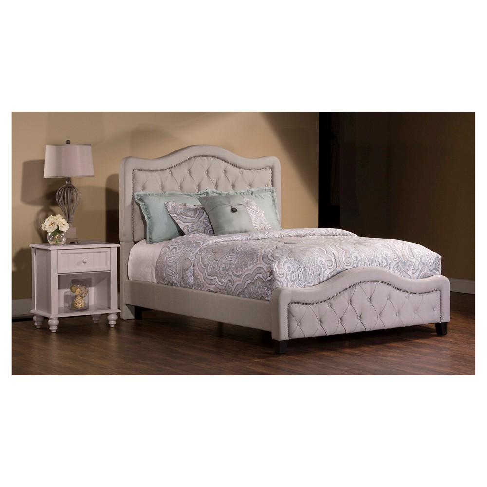 Trieste Bed - Queen - Rails Included - Dove Gray Linen - Hillsdale Furniture