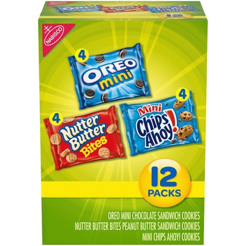 Nabisco Snack Pack Variety Mini Cookies Mix With Oreo Mini, Mini Chips Ahoy! & Nutter Butter Bites - 12oz / 12ct - image 1 of 4