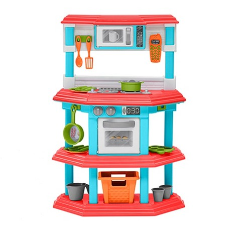 Target Kids Kitchen Set | American Plastic Toys 11640 Kids My Very Own Gourmet Pretend Play Kitchen Set