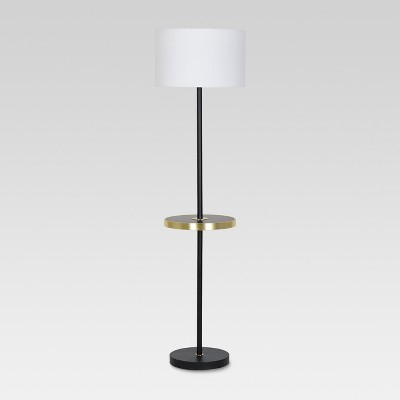 Brass Shelf Floor Lamp with USB Stick (Includes Energy Efficient Light Bulb)- Project 62™