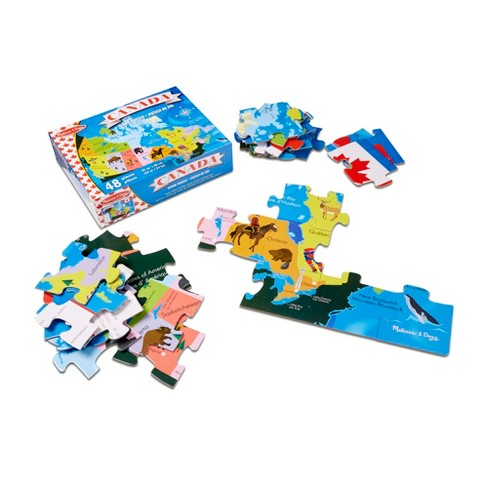 Map Of Canada Puzzle.Melissa And Doug Canada Map Jumbo Floor Puzzle 48pc