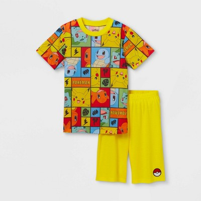 Boys' Pokemon 2pc Pajama Set - Yellow