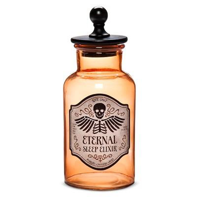 Halloween Glass Apothecary Jar - Medium