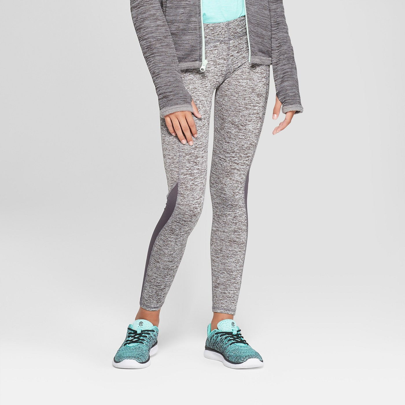 Girls' Cozy Performance Leggings With Pockets- C9 Champion® - image 1 of 3