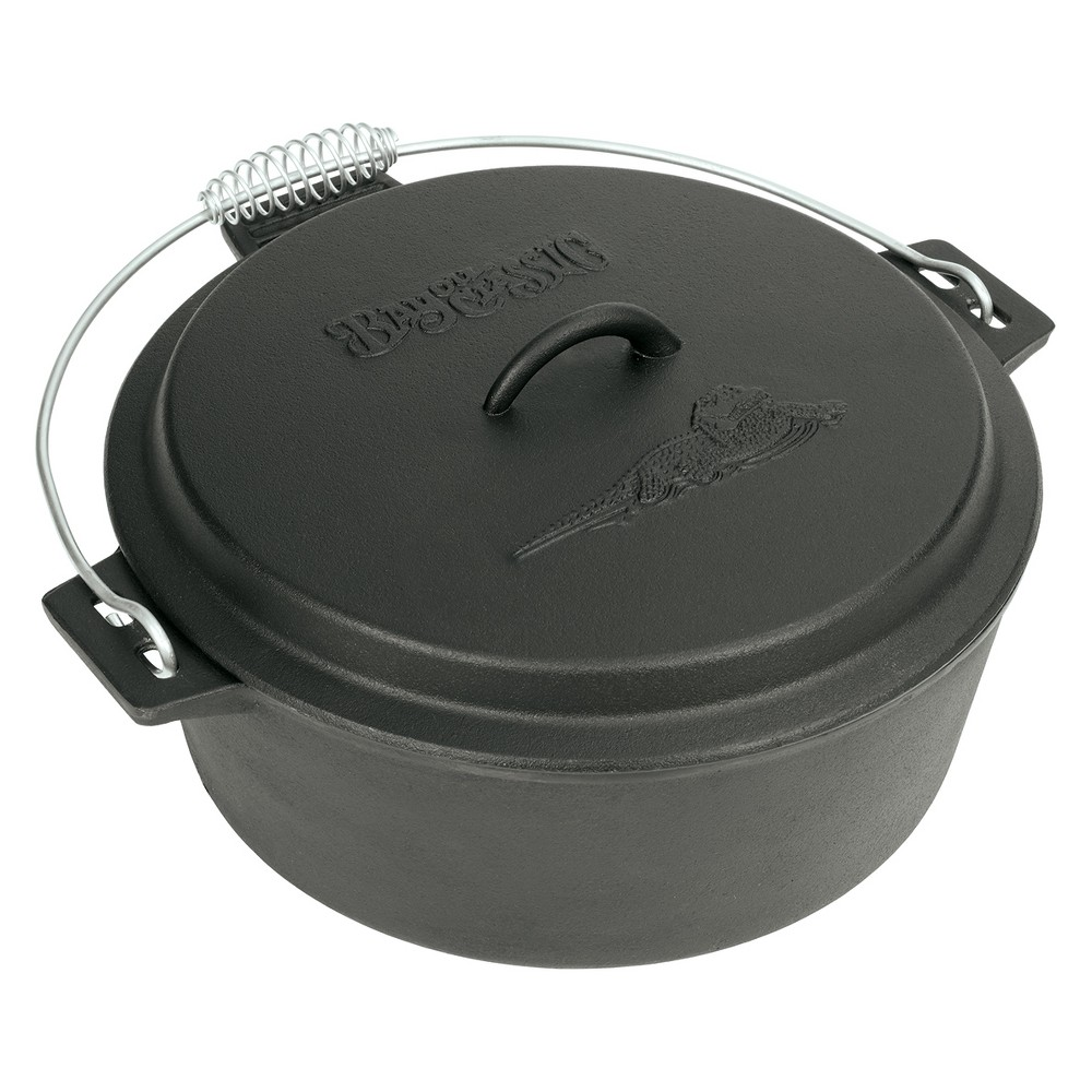 Image of Bayou Classic Cast Iron 10qt Chicken Fryer with Lid, Black