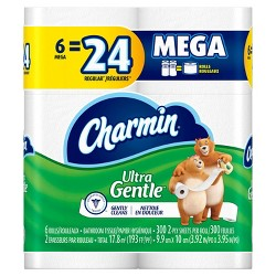 Charmin Ultra Gentle Toilet Paper - 6 Mega Rolls