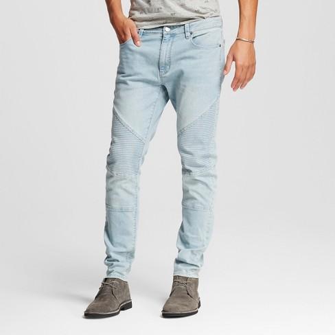 Men's Moto Jeans Light Blue XL - Jackson ™ - image 1 of 6