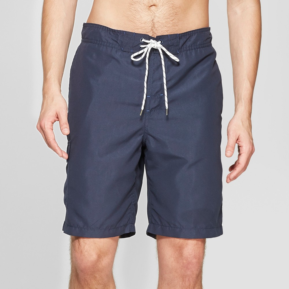 Men's 9 Swim Trunks - Goodfellow & Co Navy (Blue) M