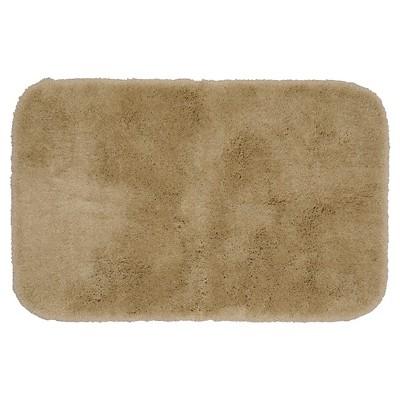 Garland Finest Luxury Ultra Plush Washable Nylon Bath Rug - Taupe (24 x40 )