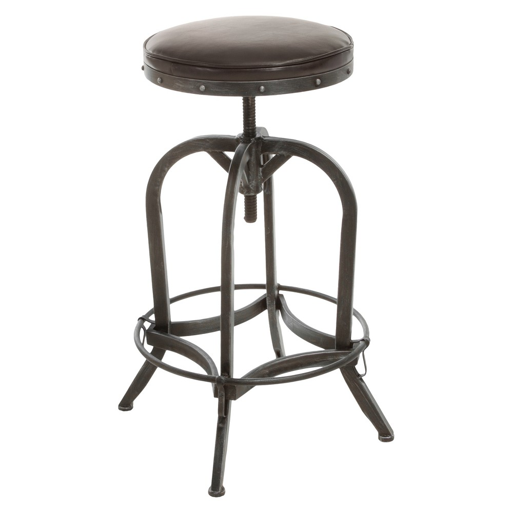 27.5 Gunner Swivel Barstool Leather Brown - Christopher Knight Home was $151.99 now $113.99 (25.0% off)