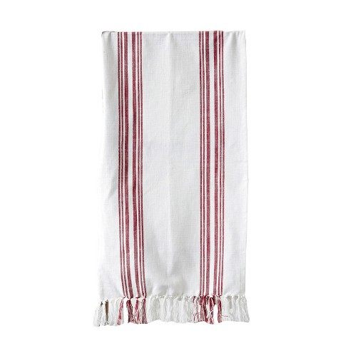 Cotton Table Runner - Red Stripe - 3R Studios - image 1 of 2